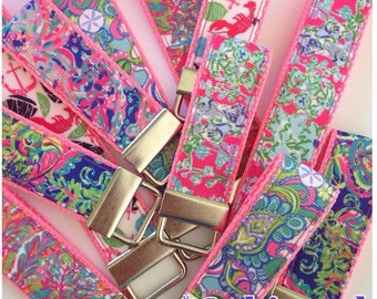 New Lilly Pulitzer Inspired Key Fobs / Lilly Pulitzer Inspired Wrist Fob