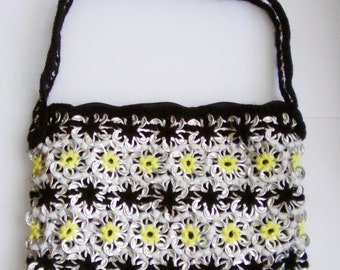Pop Tab Shoulder Bag With Daisy Chain Pattern