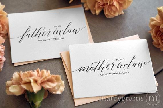 Father In Law Wedding Gifts: Wedding Card To Your Future Mother And Father In-law Parents