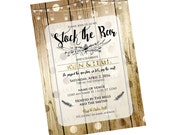Stock the Bar Custom Invitation / Rustic and Gold Invite / Wedding Shower, House Warming Party / Printable Invitation