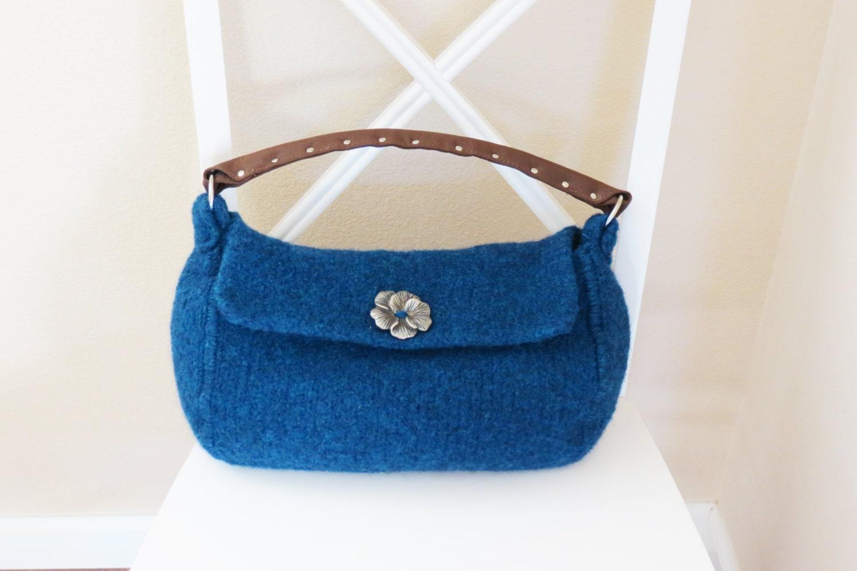 Knit Backpack Pattern : Knit Bag Pattern Felted Purse Pattern Felted Purse Knitted