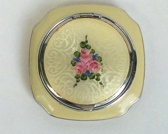 Guilloche Compact Yellow Enamel by Evans