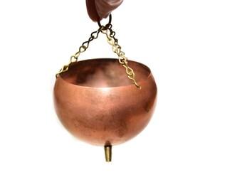 Vintage Hanging Copper Planter Hanging Planter Copper Cups Copper Pot Hanging Copper Succulent Planter