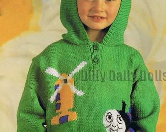 Thomas Knitting Pattern : PDF Knitting pattern thomas tank engine sweater. 22-26 inch