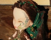 33% OFF SALE Pendragon Doll #67 - Cerridwen the Forest Fairy - Repainted rescued OOAK collector art doll