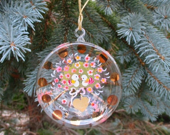 SALE!  Blown Glass Ornaments, Hand Painted