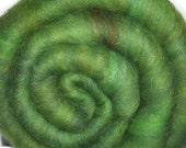 Drum carded Silk / Merino wool fiber batt for felting and spinning - Fairy's Bower - 2.0 ounces