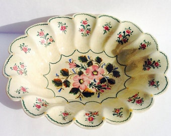 Vintage Portugal Serving Dish Hand Painted Valadares 140 T 10 x 8 x 2