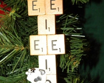 Old McDonald's Farm Scrabble Ornament 7367