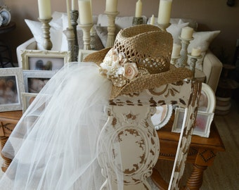 western bride cowgirl hat for western wedding ivory decorated cowgirl hat and veil bachelorette party hat