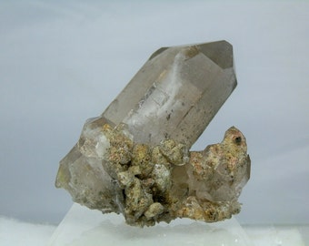 "Terminated Quartz Crystal Cluster with Lodolite Inclusions Excellent Collectible Display Specimen 248 grams 3.75"" Minas Gerais Brazil"