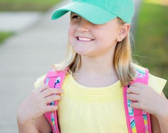Monogrammed Kid's Ball Cap - Custom Monogrammed Hat - Summer Hat - Beach Hat - Kid's Hat - Monogrammed Gift - Christmas gift - Birthday gift