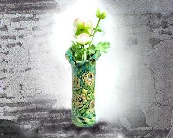 ceramic vase,ceramic flower vase, pottery flower vase,Shabby Chic Vase,Home Decor vase, # 150
