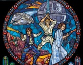 Rose Star Wars: Classic - Transparency Stained Glass Print