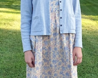 Vintage Ladies Purple Yellow SUNDRESS & Cardigan by Laura Ashley Size 10 Only 27 USD