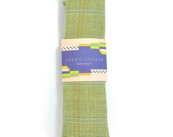 Green glen plaid necktie - Wedding Mens Tie Skinny TIE Laid-Back necktie