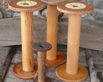 Listing for one HUGE Vintage Machinery Bobbin!  Yarn Storage, Home Decor, Etc....