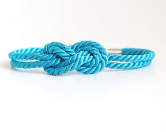 Sailor Knot Bracelet Turquoise with Anchor Charm