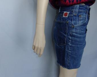 70s GWG jean shorts, jean shorts, vintage jeans, jean cut offs, jeans 29