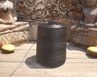 Wax Cotton Cord Black 100 Metres (109 Yards)