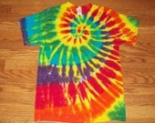 S M L XL 2X 3X 4X 5X 6X - Kids, Adult, Plus Size Tie Dye Shirt- Lemon Rainbow Tie Dye