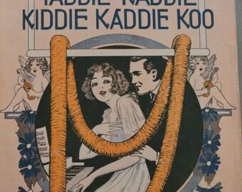B355)  Antique Sheet Music 1916 Yaddie Kaddie Kiddie Kaddie Koo