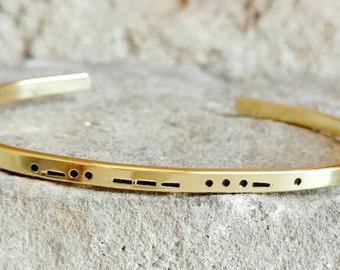 Morse Code Bracelet - Secret Code Bracelet - Best Friend Gift - Custom Bracelet - Love Jewelry - Valentines Bracelet - Morse Code Jewelry