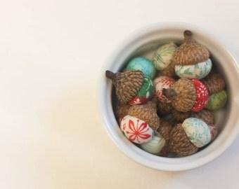 Evergreen (by Moda) Christmas Fabric Acorns
