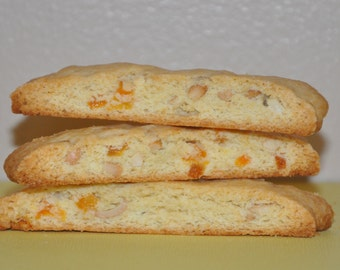 Biscotti  Cookies Sample Box 2 Flavors Mix  2 dozens Christmas Holiday Gift