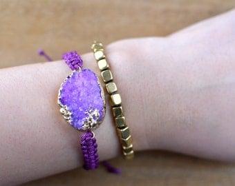 Square Brass Bracelet