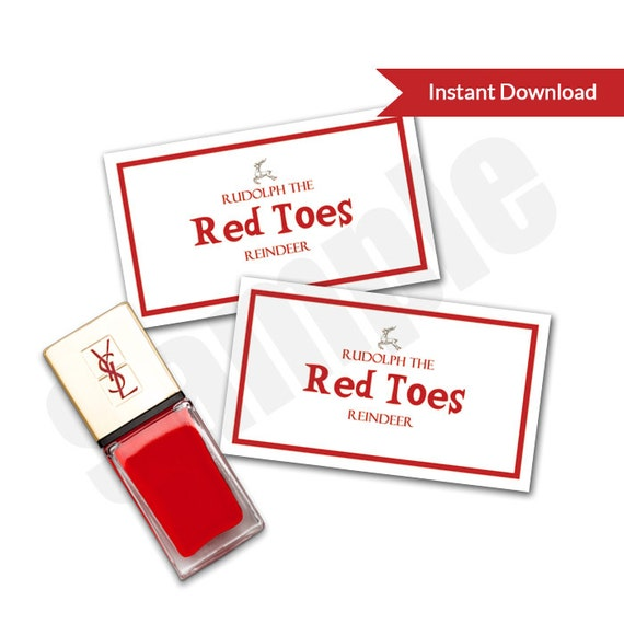 Rudolph The Red Toes Reindeer Nail Polish Pedicure Enclosure