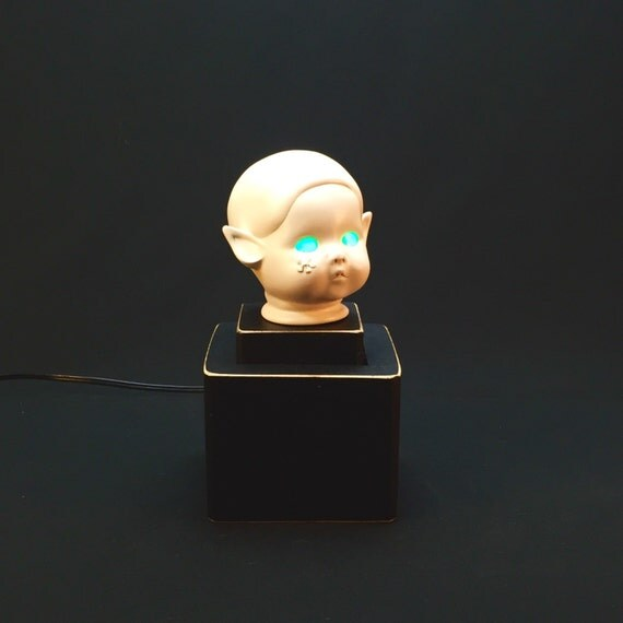 Rustic Lamp Upcycled Doll Head Lamp
