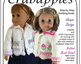 "Rambling Rose Knitting Pattern for American Girl and other 18"" dolls"