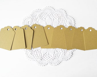 Set of mini gift tags in natural eco-friendly cardboard for packaging or scrapbooking - choose the quantity