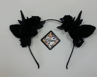 Gothic Antler Lolita Headband- Lolita Accessories-Lolita - Gothic- Gothic Lolita-Antler