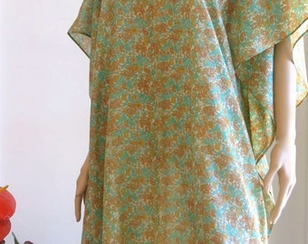 Floral Kaftan, Caftan, Cover up, Summer Dress, Silkz design