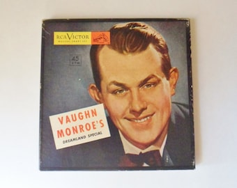 Vaughn Monroe Boxed Set, Three 45 RPM Records, Dreamland Special