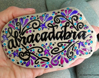 make a little magic / painted rocks / painted stones / magic / paperweights / gifts for magicians / invocation / art on stone / magical