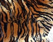 Minky Soft Cuddle Tiger Stripe Fabric 2 yards Faux Fur
