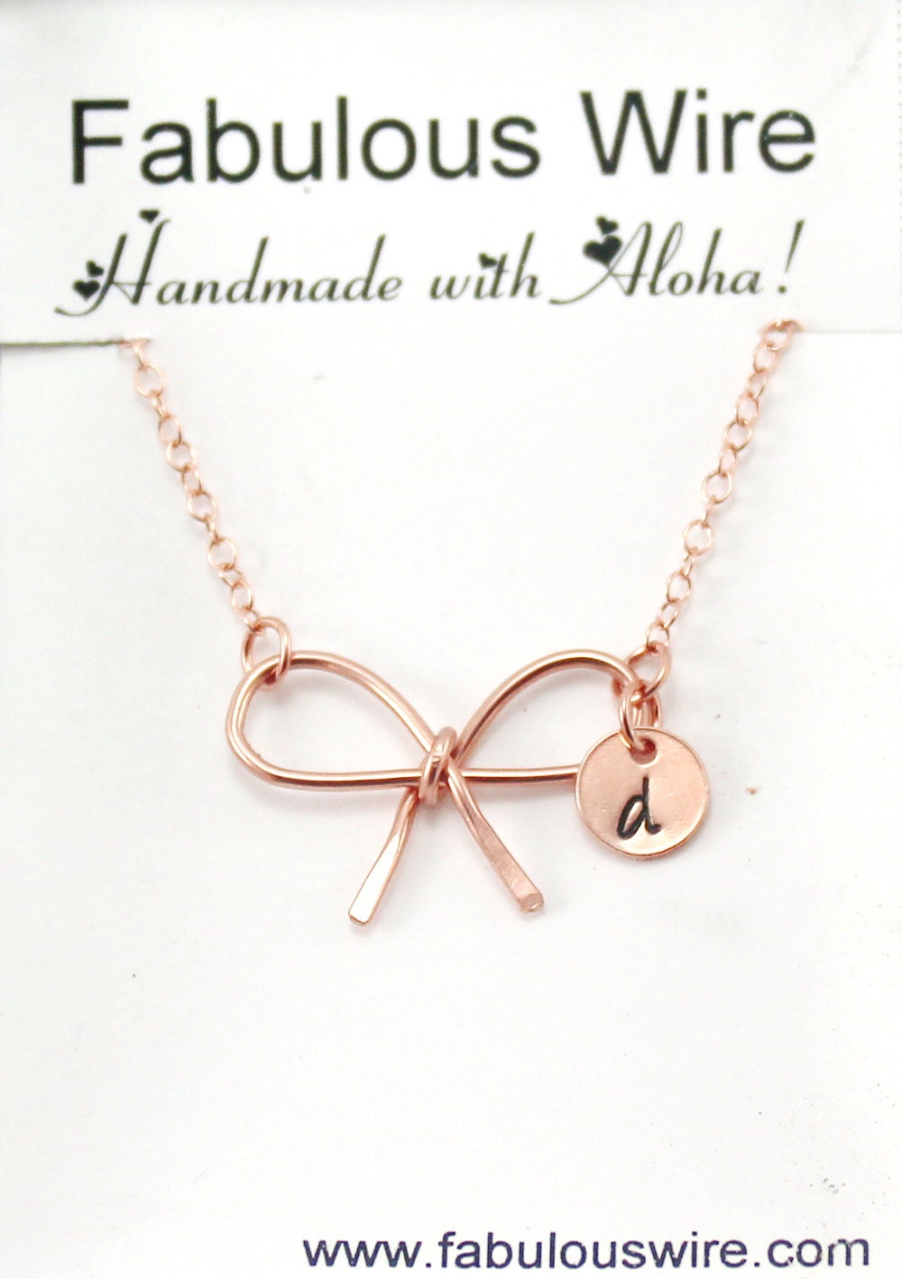Rose Gold Bow Tie Necklace