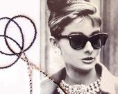 Eyewear holder, Black and silver grey, Beaded glasses chain, Glasses holder, Sunglasses chain, Eyeglass jewelry, Eyewear chain, Handmade