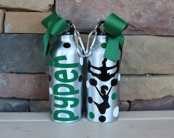 Cheer Water Bottle, Cheerleading Water Bottle, Cheerleader Gift, Cheer Gift, Sport Water Bottle, Custom Water Bottle
