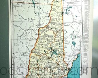 1939 New Hampshire Vintage Atlas Map