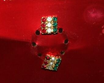 Merry & Bright Christmas Earrings, Pierced