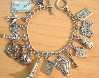 World Traveler Charm Bracelet
