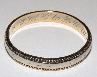 Antique 14K Wedding Band Dated 1933