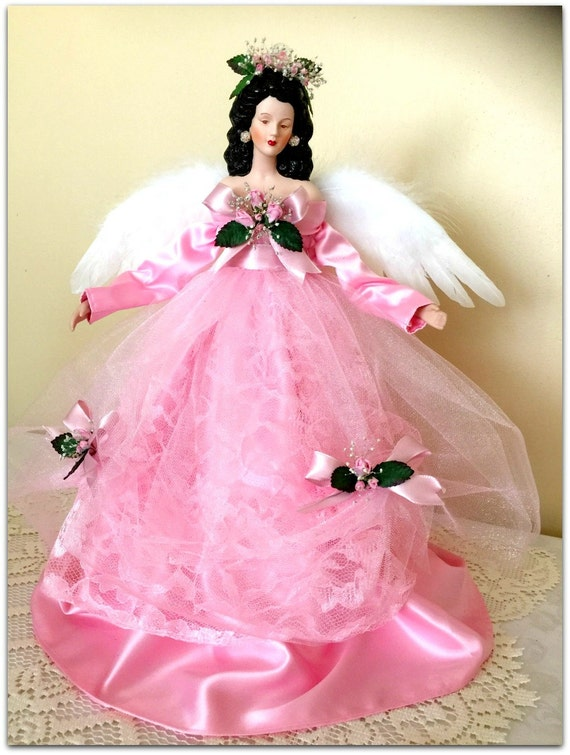 Pink Angel Christmas Tree Topper