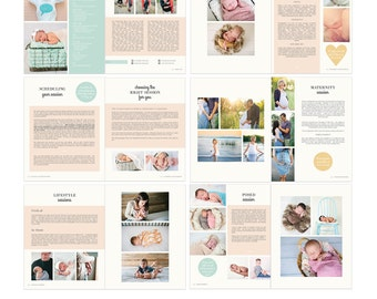 Newborn Photography Welcome Guide, Client Guide, Magazine, Advertising - Template - MA1