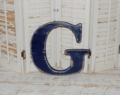 Wooden Letter G Distressed Wood letters Made To order Photo Props