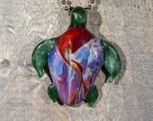 End of Day Turtle Borosilicate Pendant